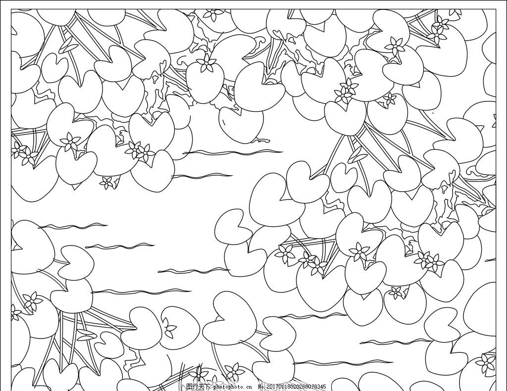 矢量背景装饰图案 欧式花纹 花纹底纹 中式花纹 背景图案 装饰画图案