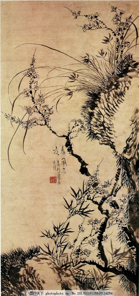 山水装饰画 山水装饰画图片素材 国画 油画 自然风光 插画 手绘