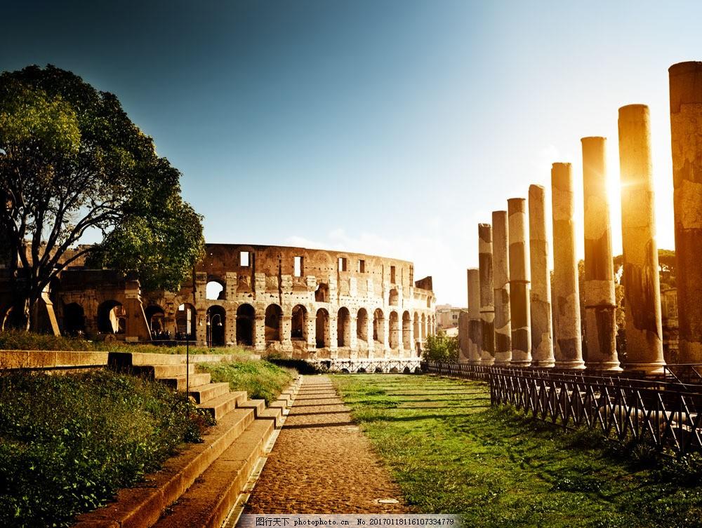 阳光下的罗马古城图片素材 罗马 景区 风景 城市 复古 古城 城市风光