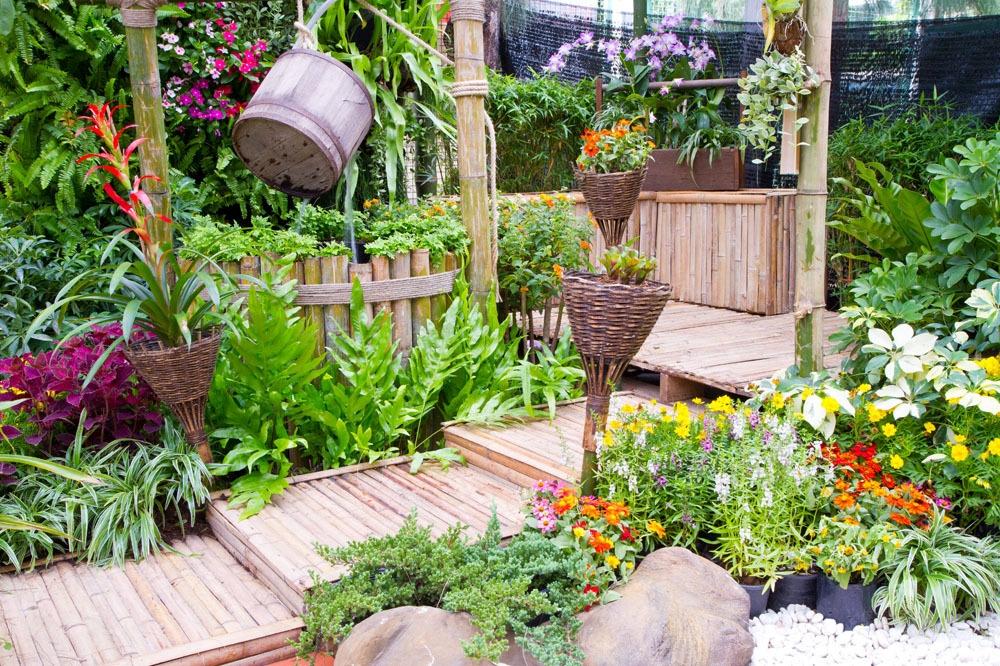 花园风景 花园风景图片素材 庭院风景 院子 美丽风景 风景摄影