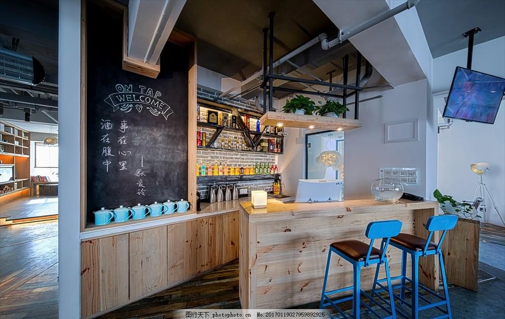 自然原朴 咖啡吧设计 创意家居设计 大堂休闲区 书吧设计 大堂吧设计