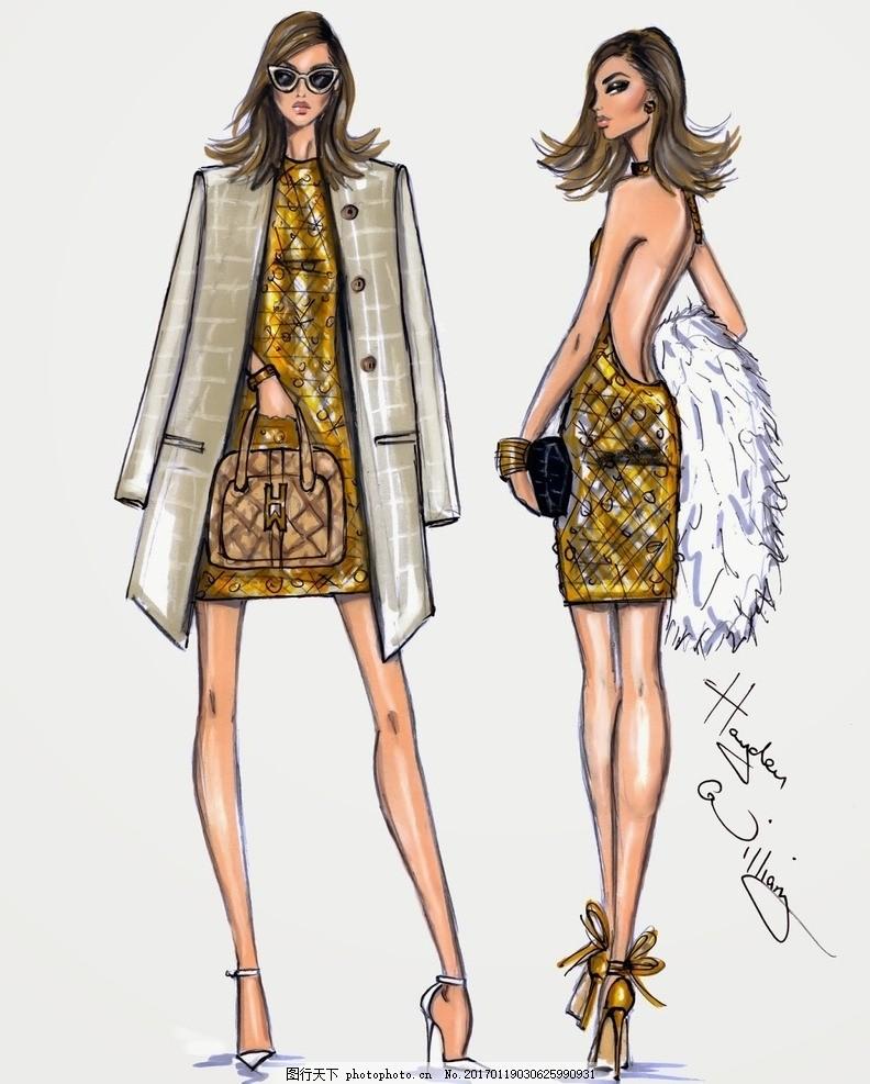 时装画 服装插画 时装效果图 服装效果图 服装款式图 服装设计 时装