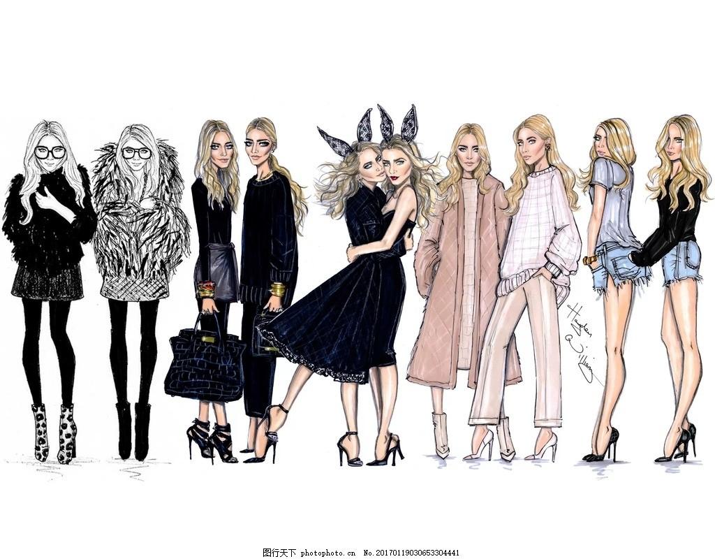 美女 国外时装画 电脑时装画 晚礼服 男装设计 女装设计 服装 设计