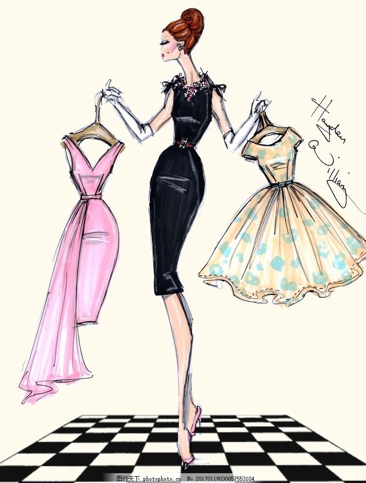 性感美女 美女 国外时装画 电脑时装画 晚礼服 男装设计 女装设计