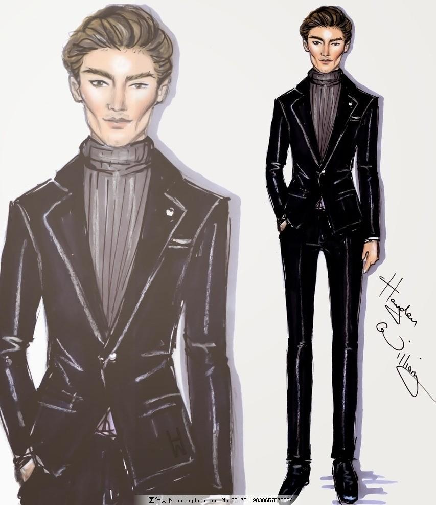 电脑时装画 晚礼服 男装设计 女装设计 西装 设计 广告设计 服装设计