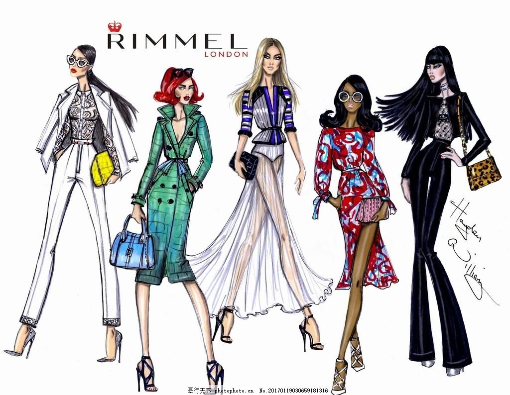时装画 服装插画 时装效果图 服装效果图 服装款式图 时装设计