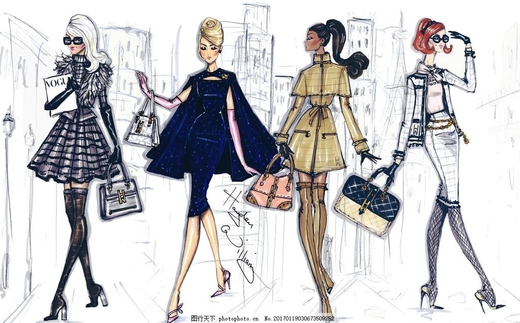 美女 国外时装画 电脑时装画 晚礼服 男装设计 女装设计 服装 设计 广