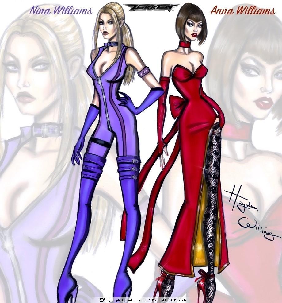 时尚 时尚美女 美女插画 服装作品集 性感美女 美女 国外时装画 电脑