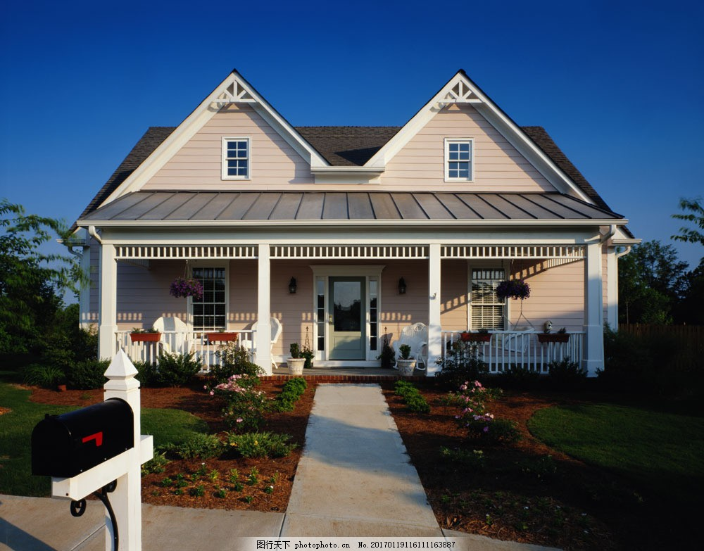 欧式别墅外观效果图 欧式别墅外观 欧式别墅设计 建筑设计 环境家居