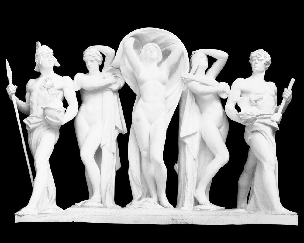 欧式风格人物石雕图片