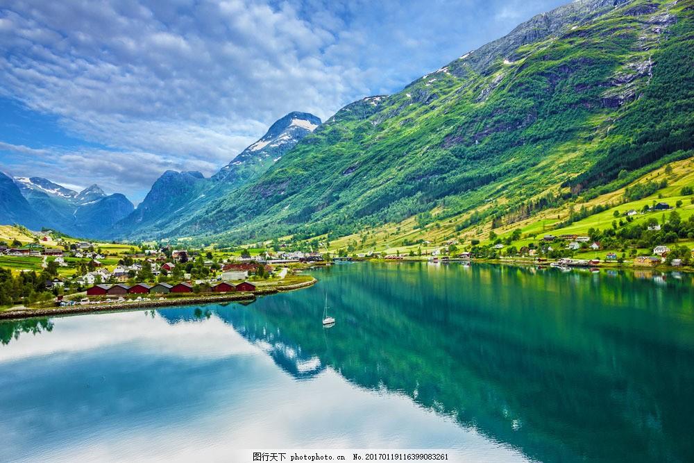 风景如画的山庄图片