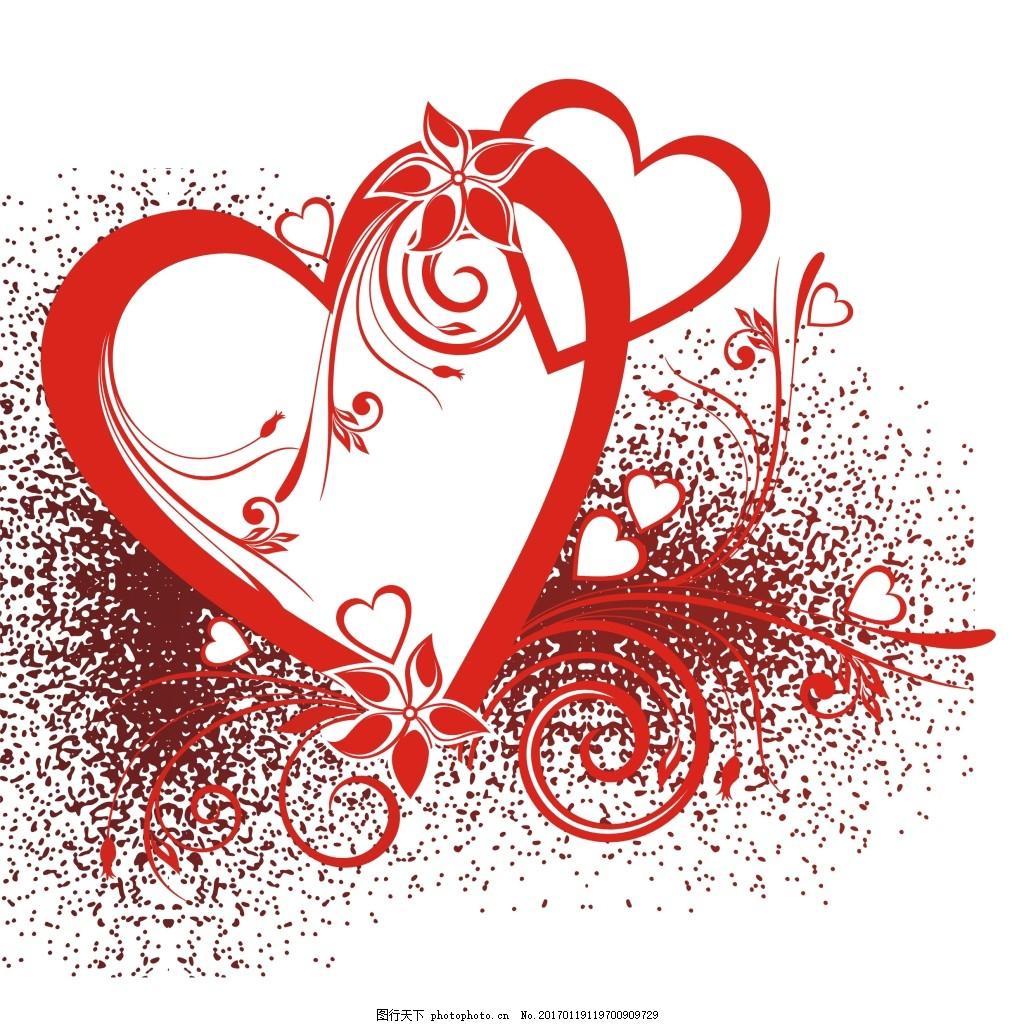爱心 花朵 红色 图框 心型