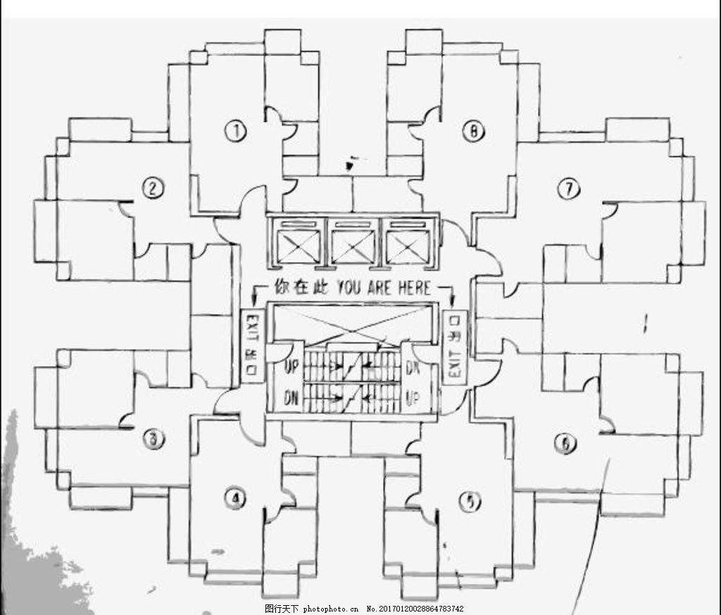 建筑施工平面图 室内 设计 建筑图纸 示意图 设计图 图纸 平面图 工程