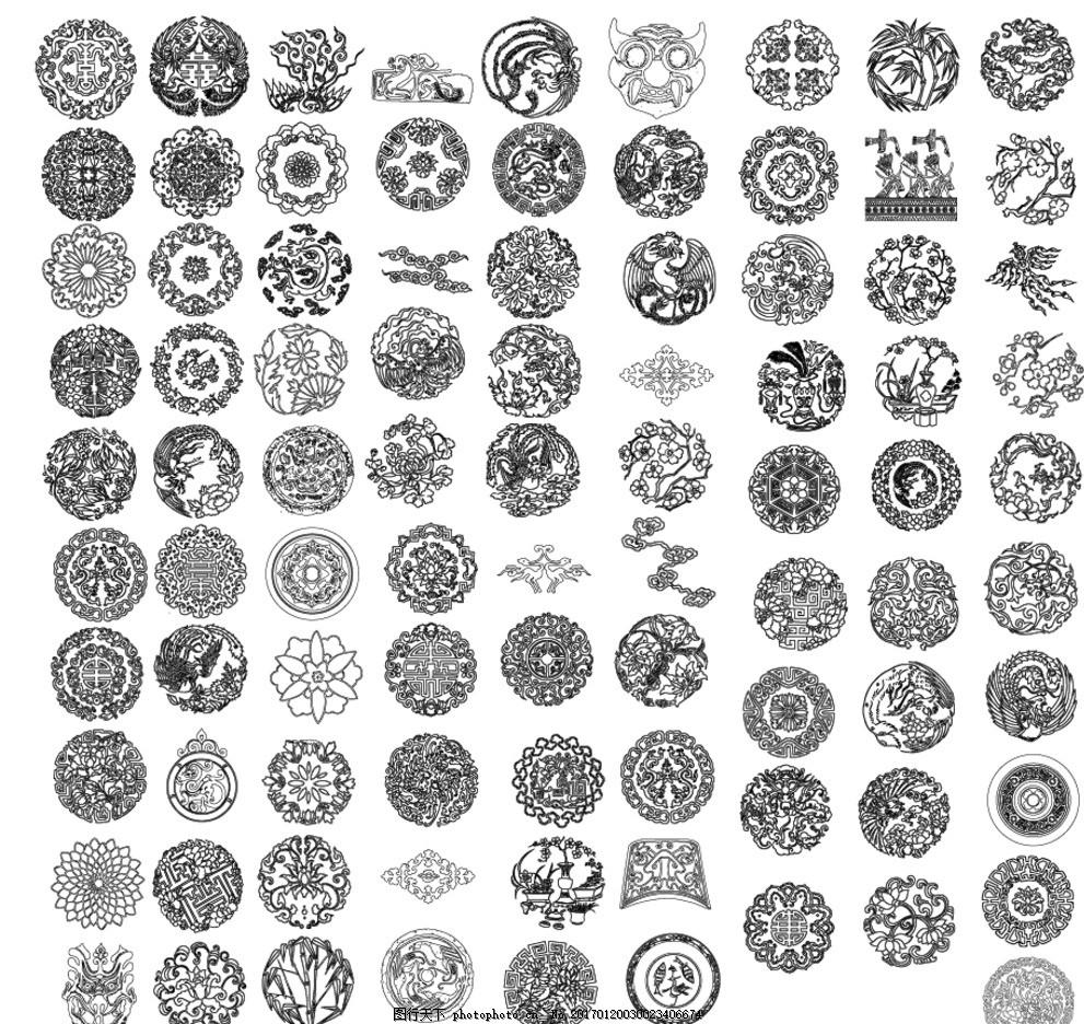 炫彩 抽象 格子布 边框 花纹 花框 花边 线条 底纹 底框 中式花纹