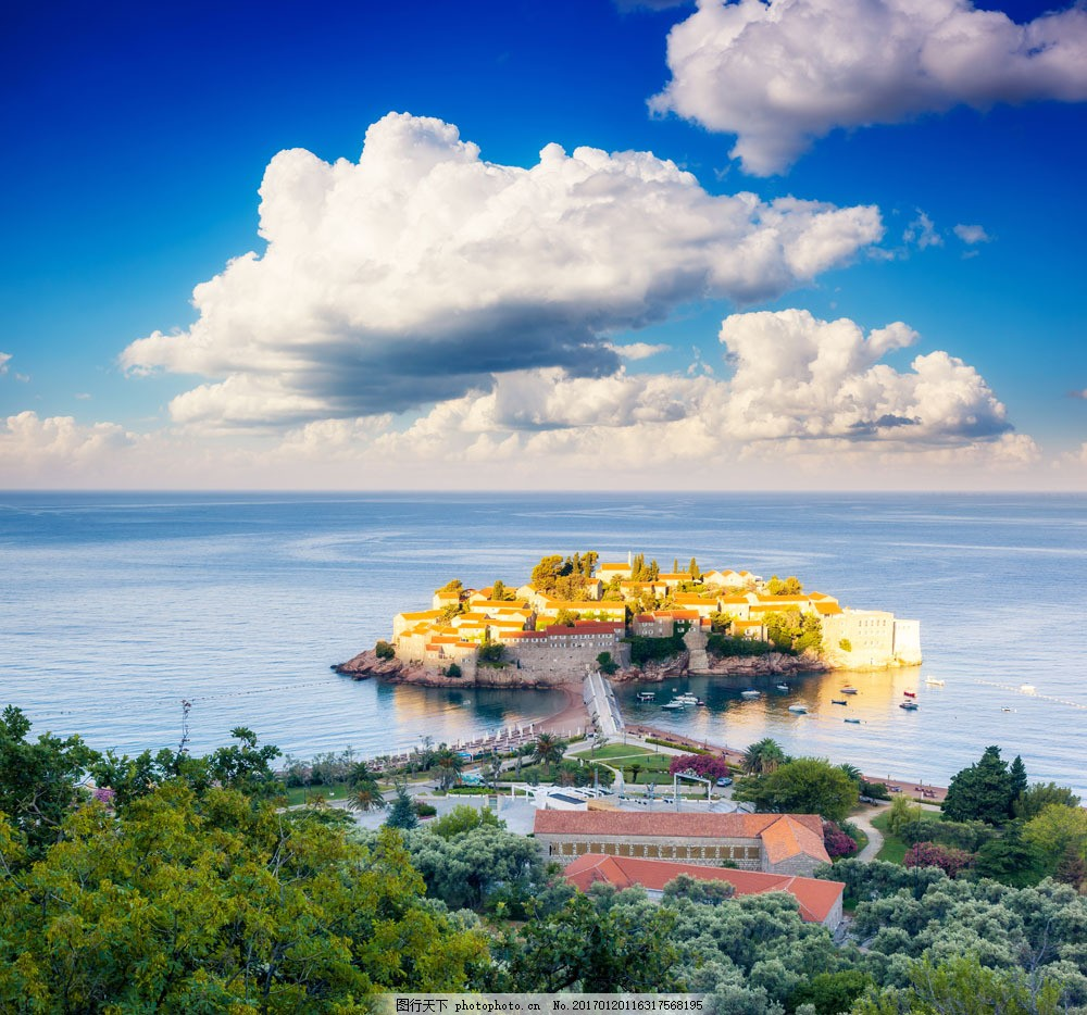 美丽小岛风景图片