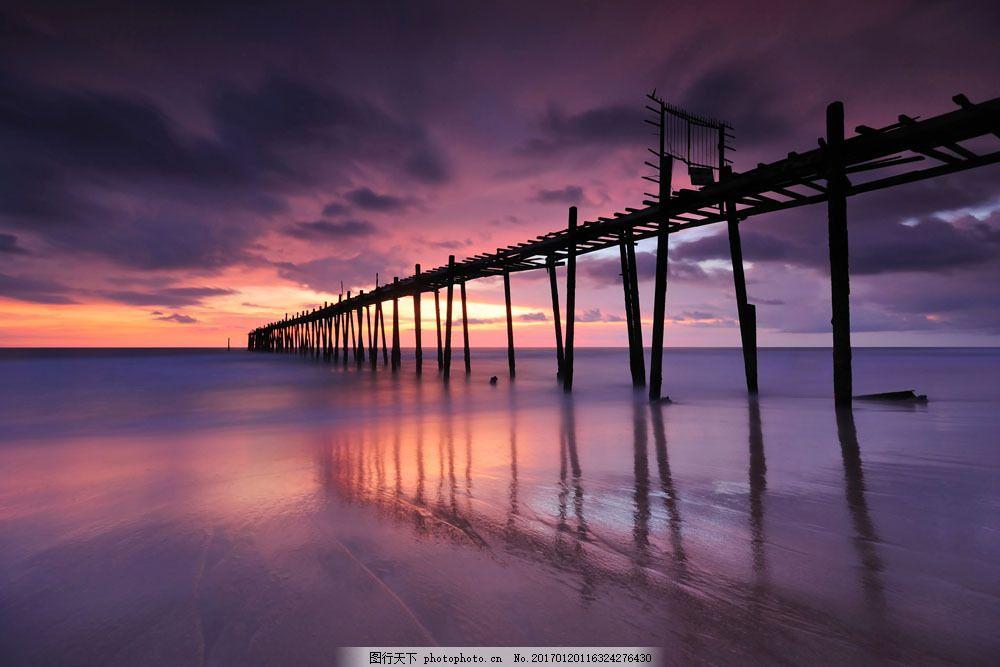 美丽木桥风景图片