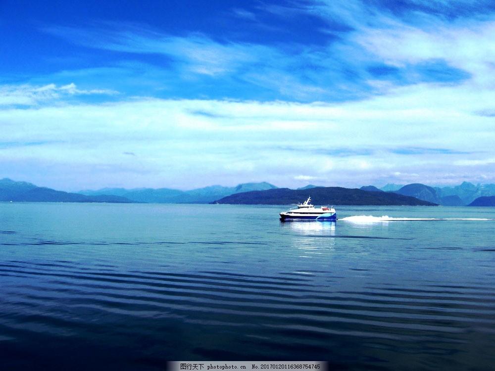 美丽海景图片素材 海洋风景 大海 船 海平面 海面 海水 美丽风景 海