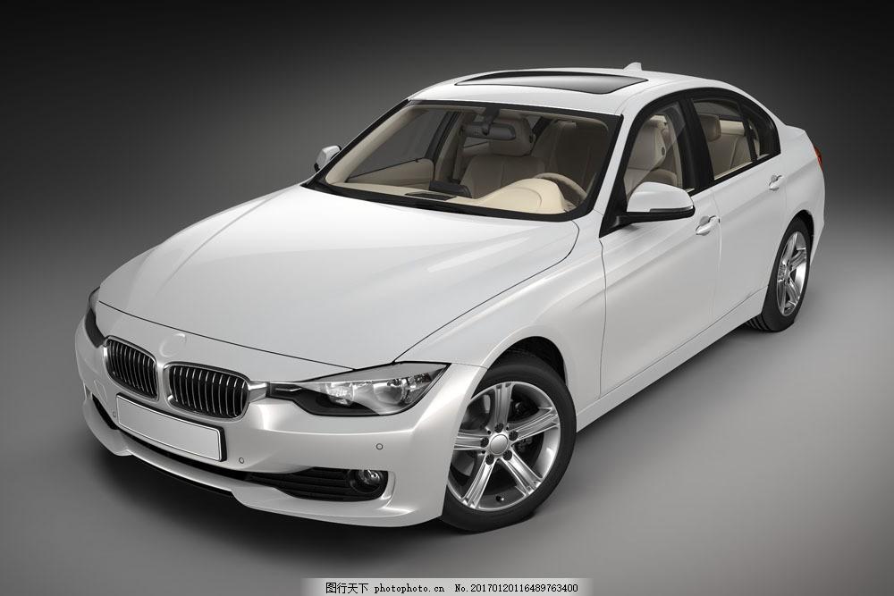 白色宝马轿车 白色宝马轿车图片素材 宝马车 豪车 高档轿车 豪华轿车