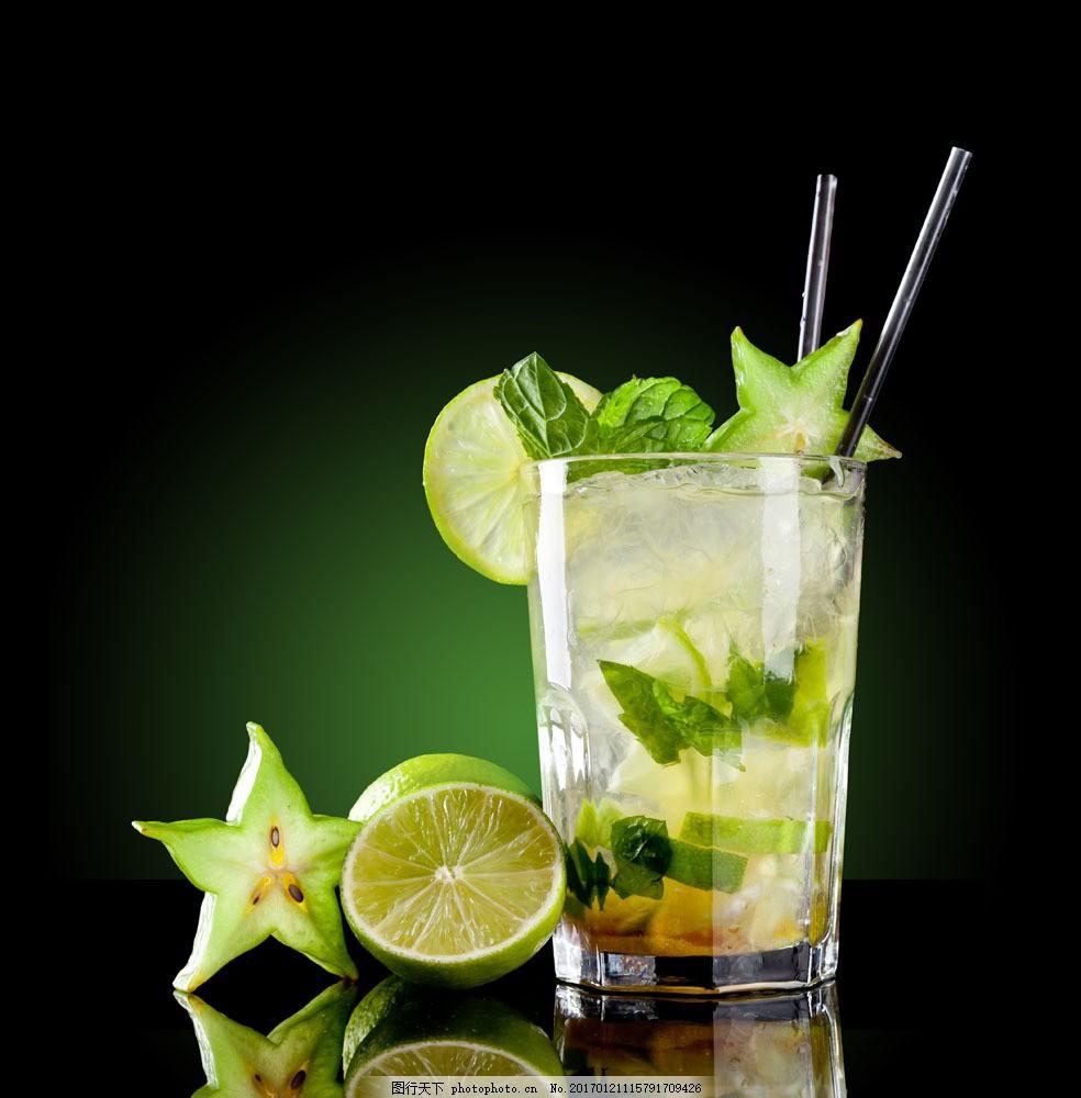 冰水冲咖啡_绿色杨桃冰水图片