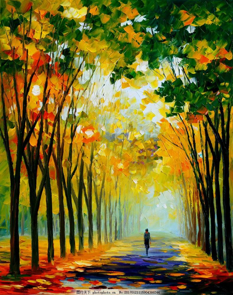 油画风景图片素材 油画 绘画艺术 装饰画 无框画 油画风景 风景写生