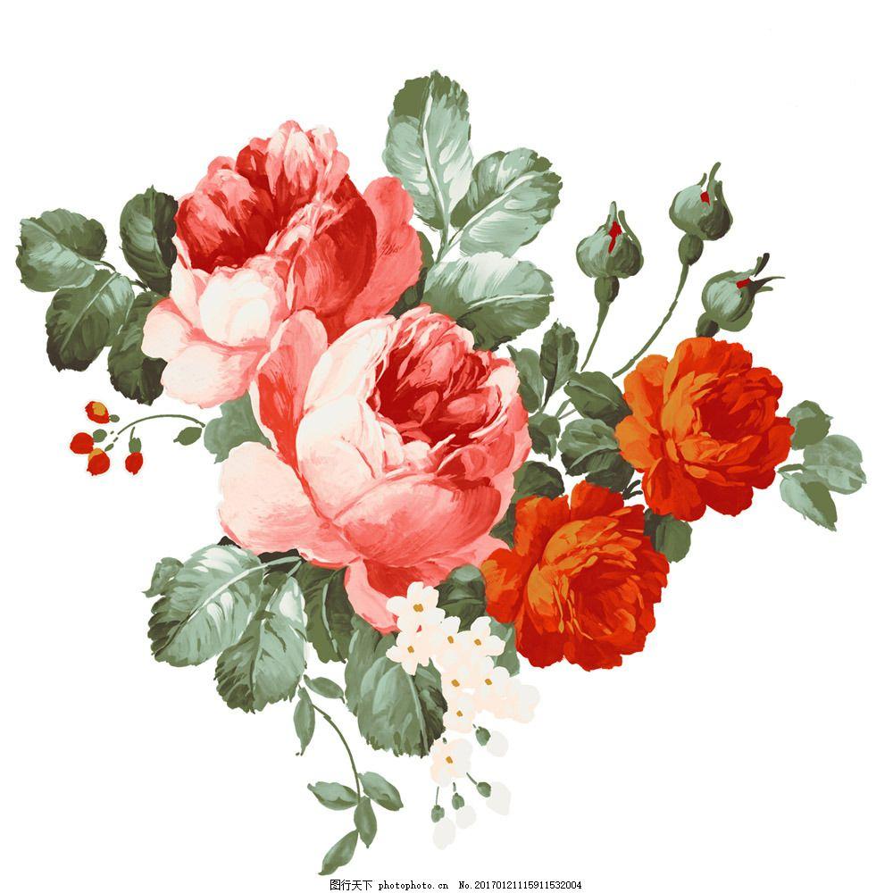 水墨玫瑰花图片素材 水墨画 名画 水墨花鸟画 玫瑰花 月季花 风景写意