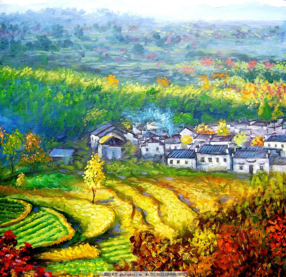 风景油画 风景油画图片素材 名画 艺术 绘画 文化艺术 艺术画