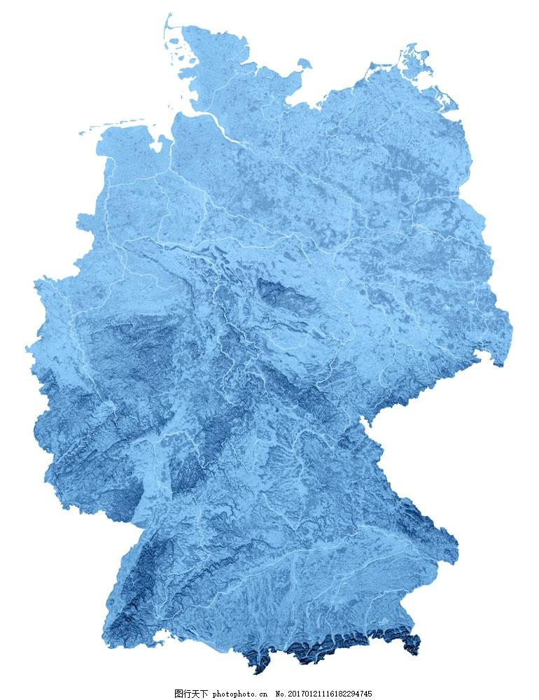 德国地貌地图图片