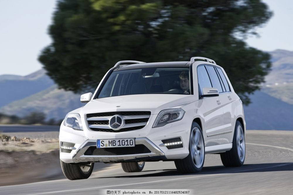 白色奔驰轿车图片素材 轿车 汽车 工业生产 小车 交通工具 品牌轿车
