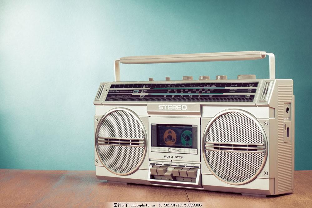 老式录音机 老式录音机图片素材 老式家电 磁带机 卡带机 音乐播放