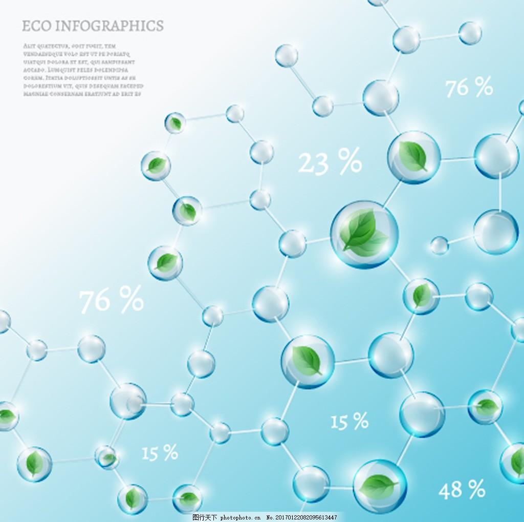 水分子结构插画
