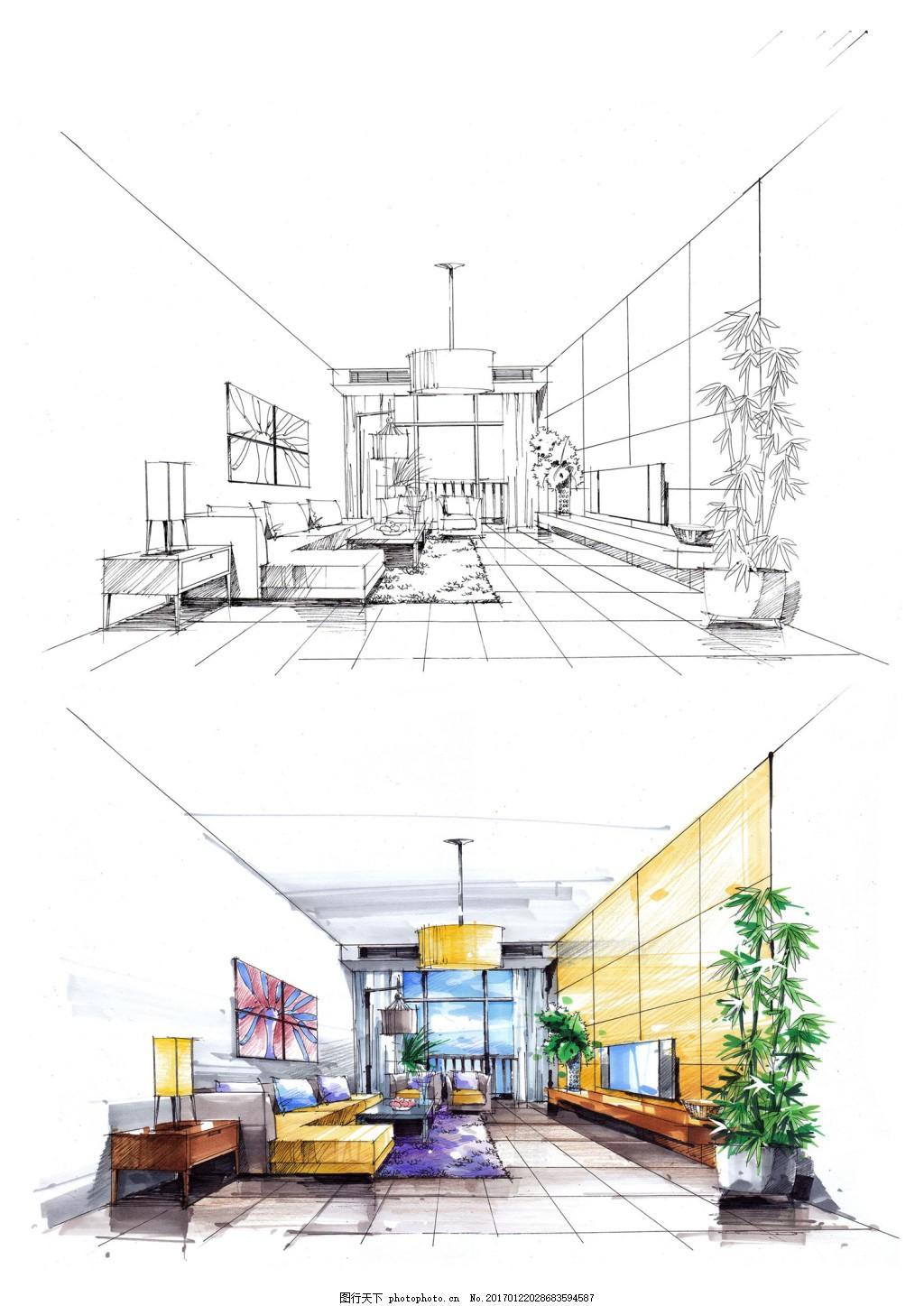 中式客厅效果图 室内设计 家装效果图 家装平面图 施工图 家装效果图