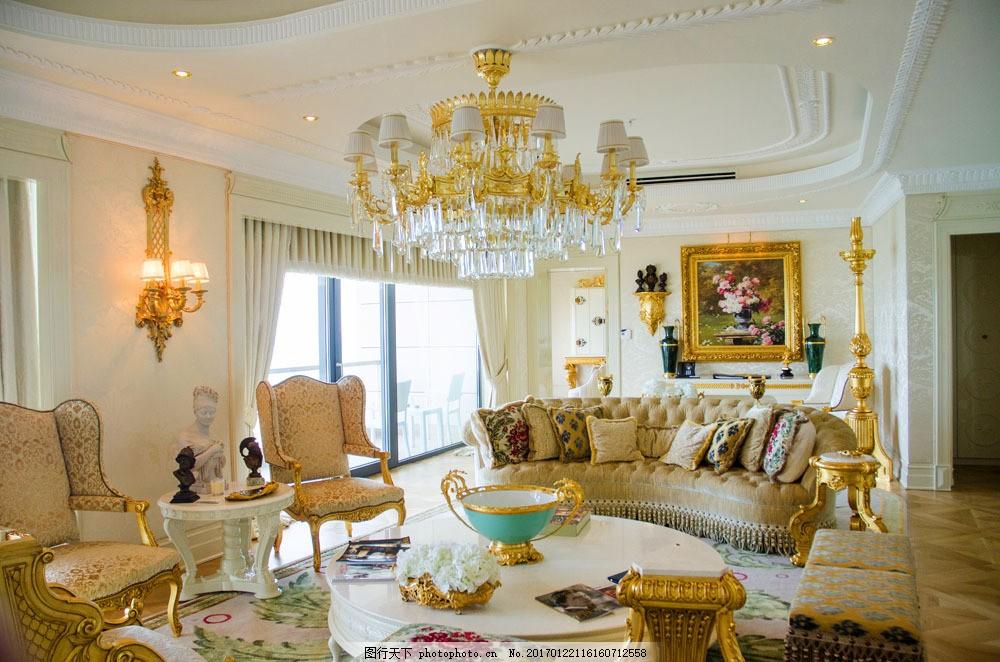 豪华欧式客厅装修 豪华欧式客厅装修图片素材 欧式风格 装饰 室内设计