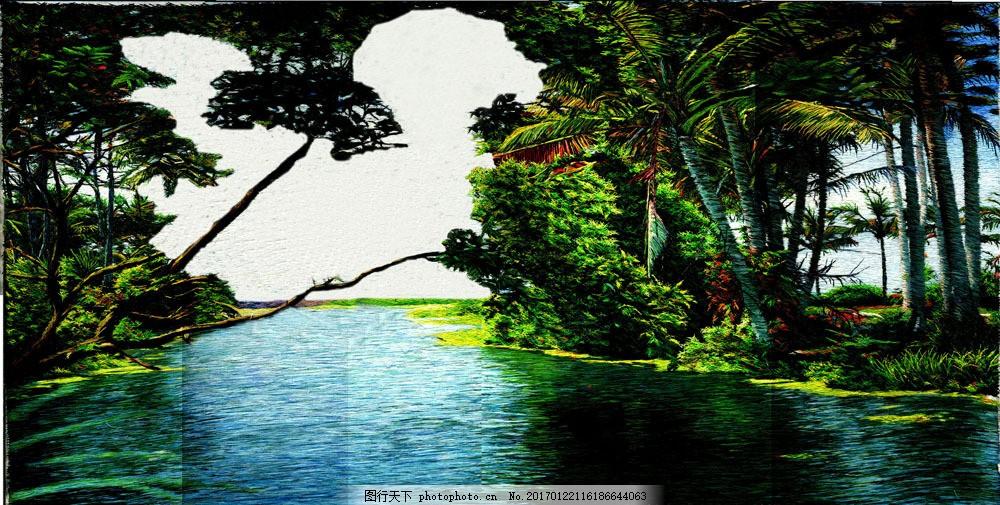 园林河流景观效果 园林河流景观效果图片素材 景观设计 园艺设计