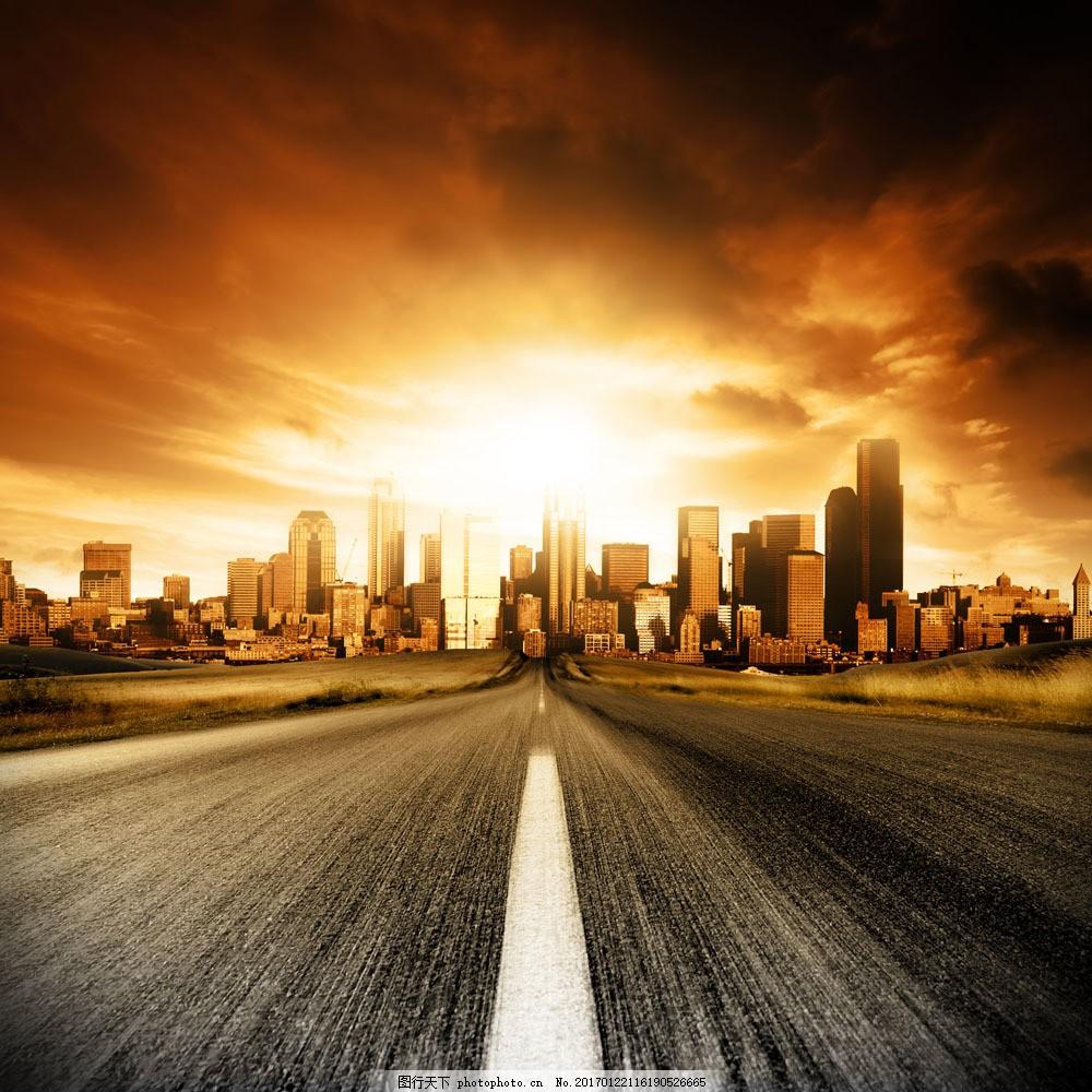 城市公路摄影图片图片