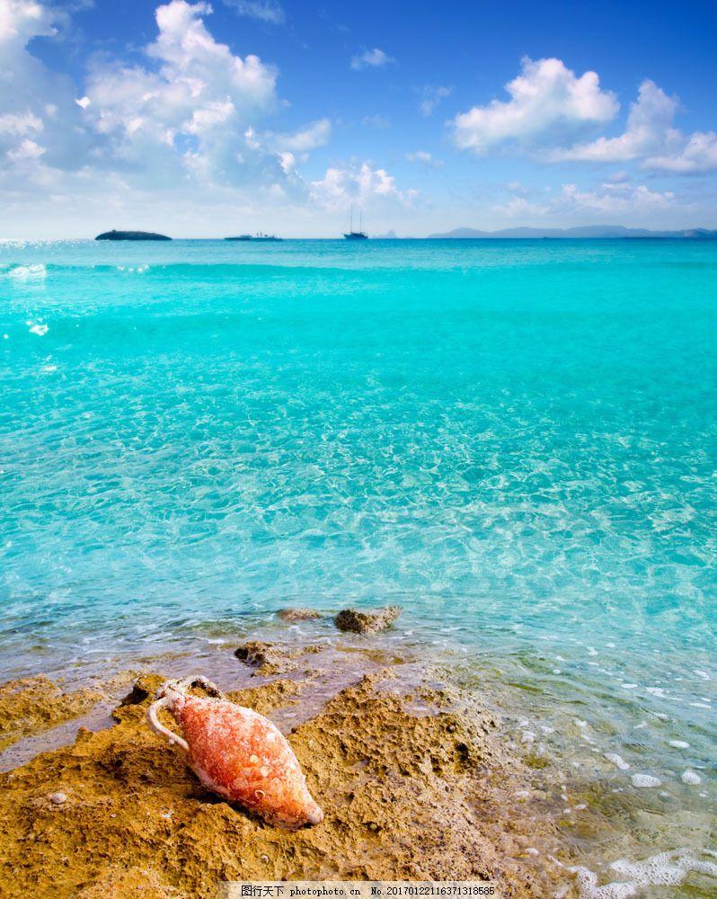 设计图库 高清素材 自然风景  美丽海滩风景图片素材 海洋风景 大海