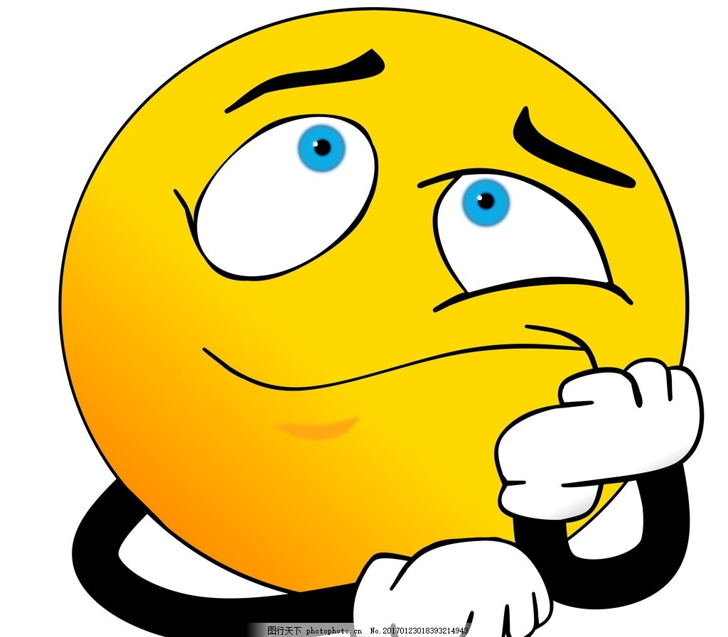 思考表情 黄色表情 表情符号 托腮 思考 挤眉弄眼 黄色 表情 可爱表情