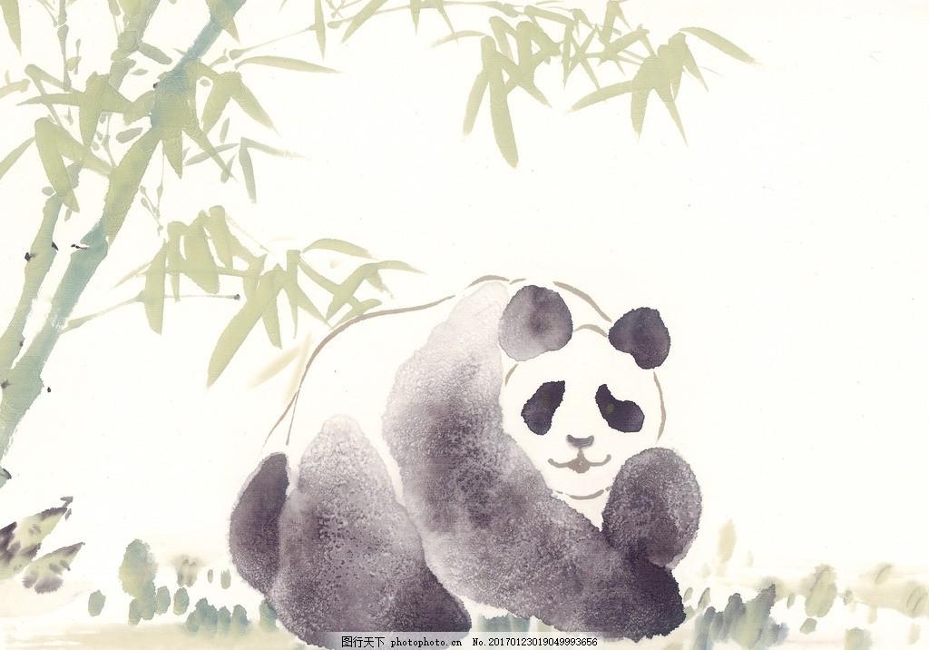 熊猫 国画熊猫 国宝 熊猫国画 水墨画
