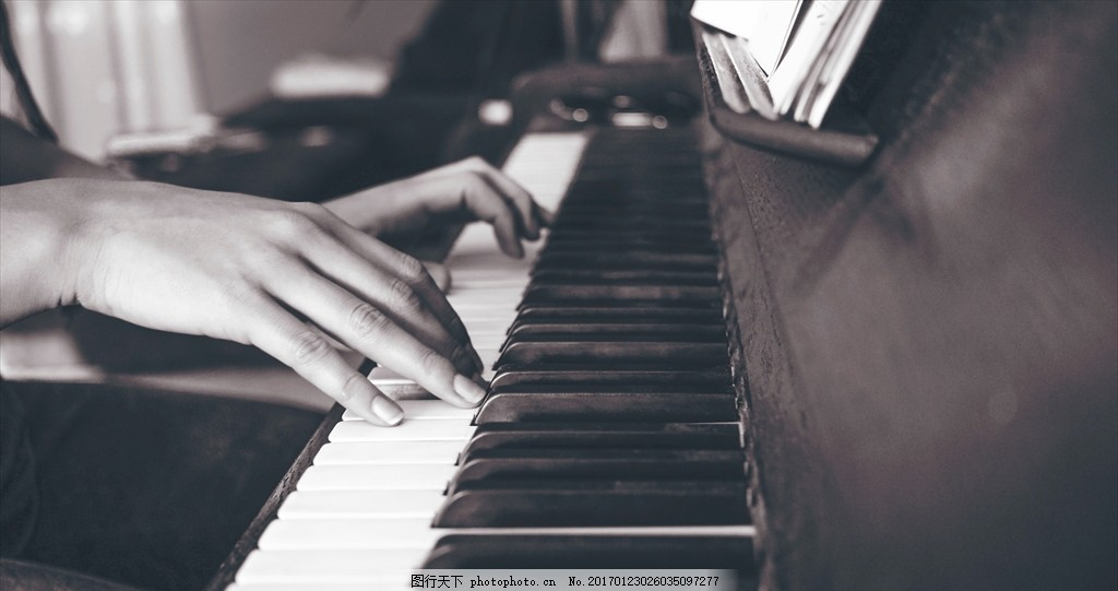弹钢琴 美女 手 一双手 女士 演奏 -10 摄影 生活百科 娱乐休闲 72dpi图片