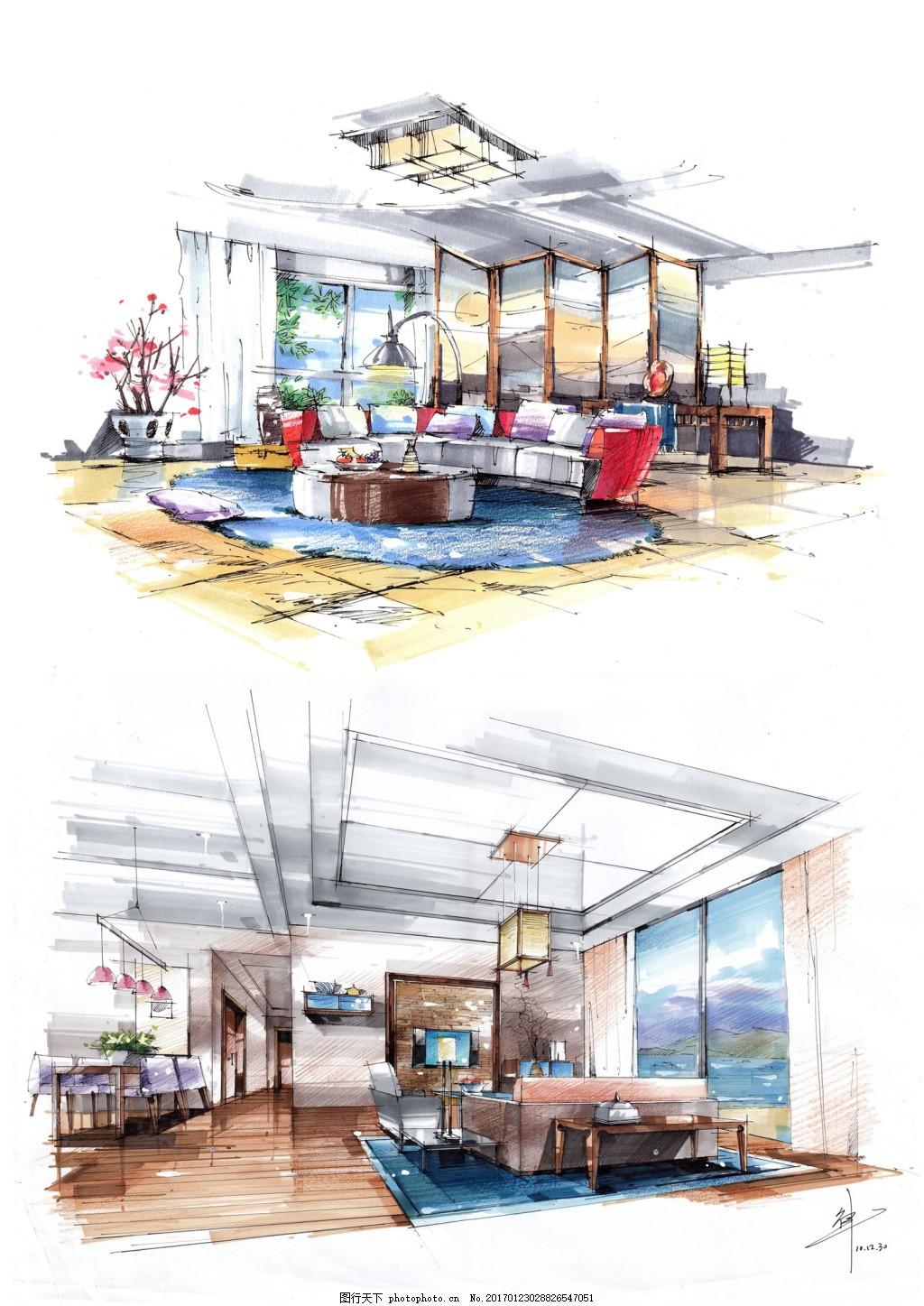 茶餐厅装修效果图 室内设计 工装效果图 工装平面图 施工图 工装效果