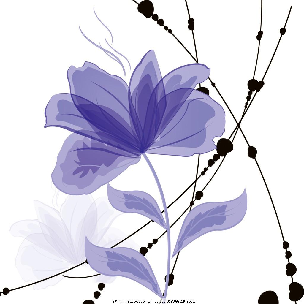 简易紫色花枝装饰画 简易 紫色 点缀 花枝 唯美 装饰画