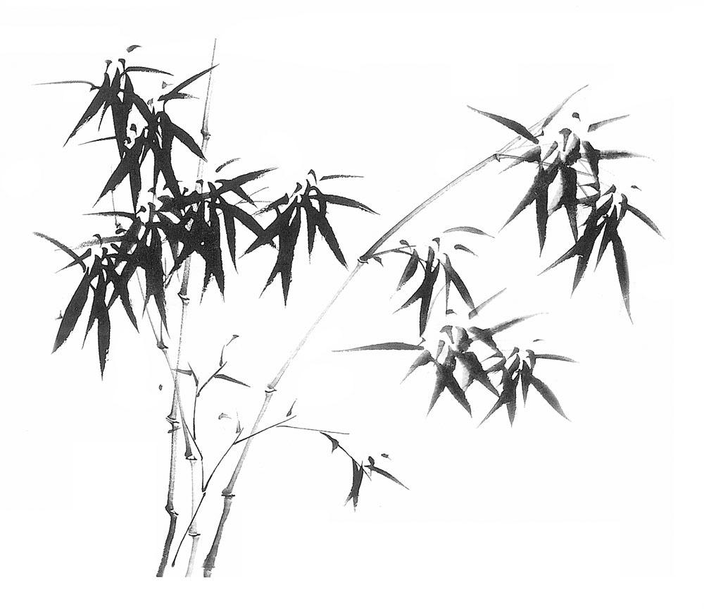 国画水墨竹子 国画水墨竹子图片素材 中国画 水墨画 书画文字 文化