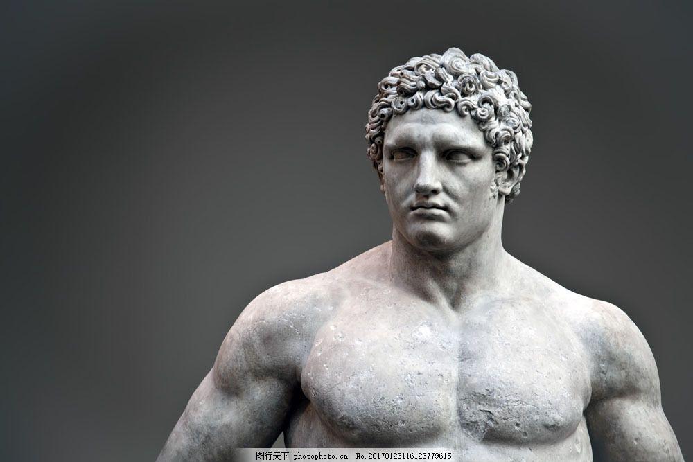 古罗马男人雕塑 古罗马男人雕塑图片素材 石雕 古典建筑 欧式建筑