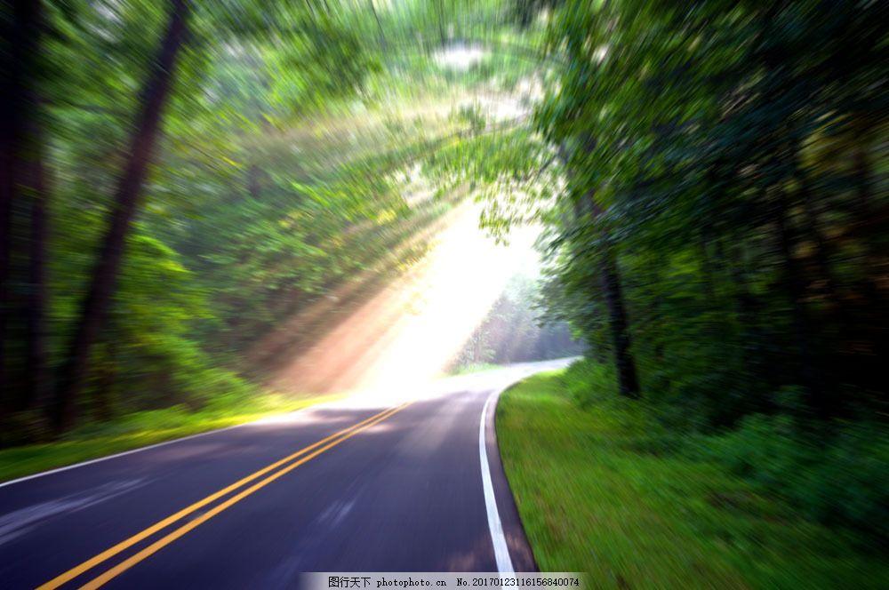 夏天风景 美丽风景 景色 道路 小路 树木 树林 马路 公路 公路图片
