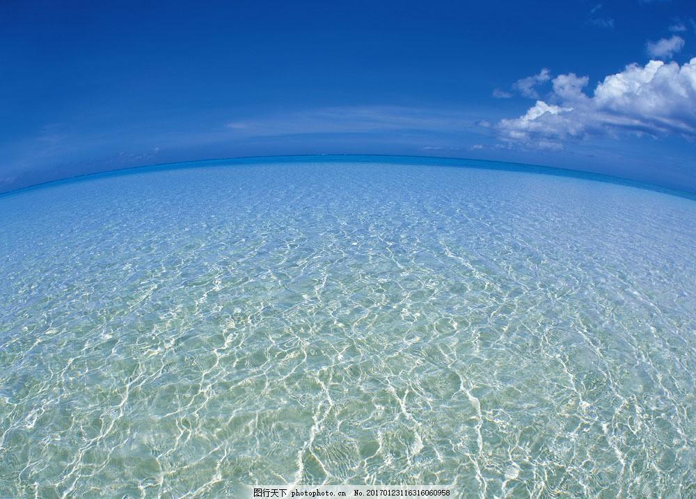 平静的海平面 平静的海平面图片素材 风景 背景 摄影 湖水 波浪
