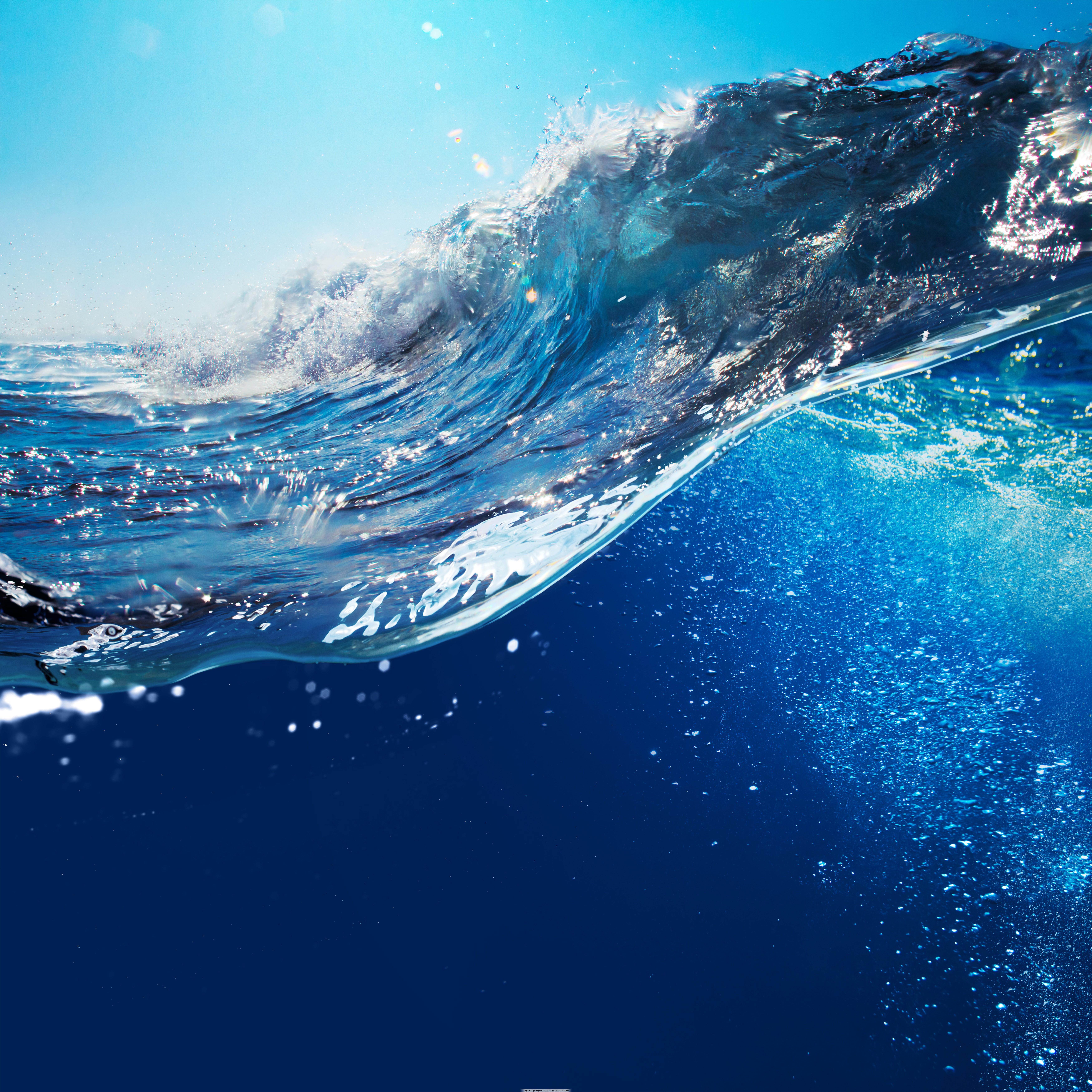 浪花与海底世界图片素材 海底世界 海水 浪花 水纹背景 蓝色海洋 大海