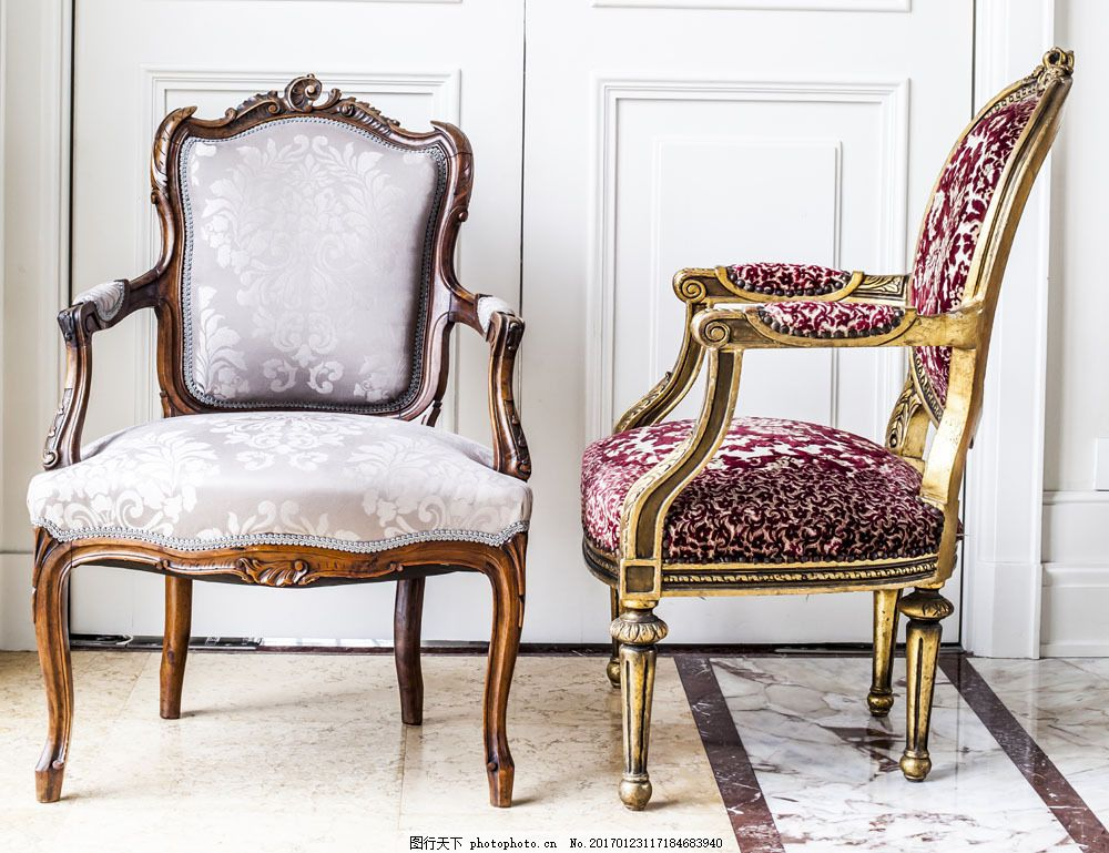 欧式椅子摄影图片
