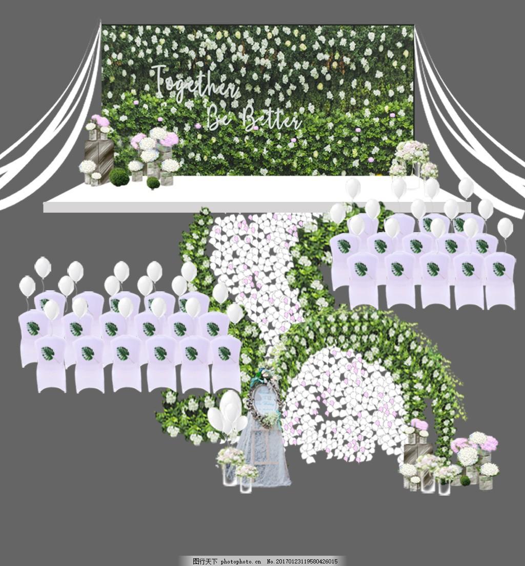 森系婚礼效果图
