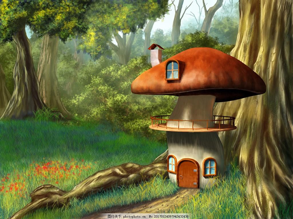 蘑菇城堡建筑壁纸,高清大图 空间建筑 装饰设计 风景