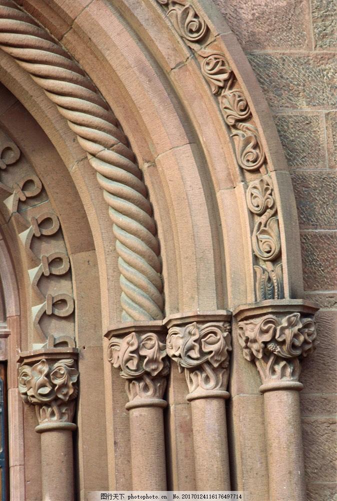 欧式古典建筑图片素材 国外建筑 欧式建筑 建筑物 古典建筑 石柱 柱子