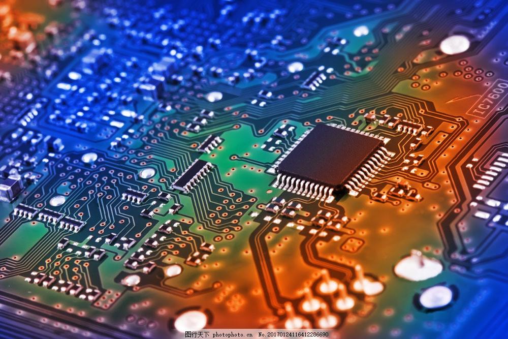 电板上的芯片图片素材 电脑芯片 cpu 中央处理器 电脑零件 电脑主板